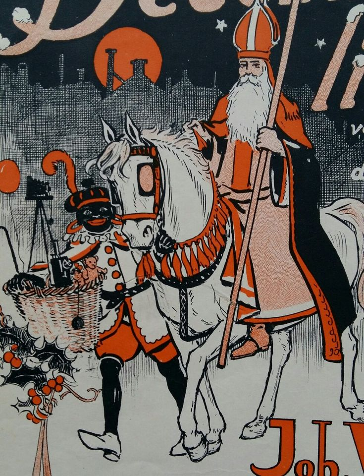 Sinterklaas, Zwarte Piet met de gevulde mand!