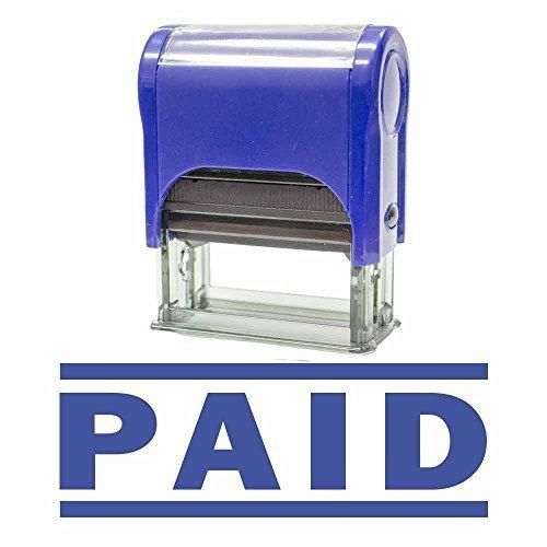 PAID Self Inking Rubber Stamp (Blue) - M