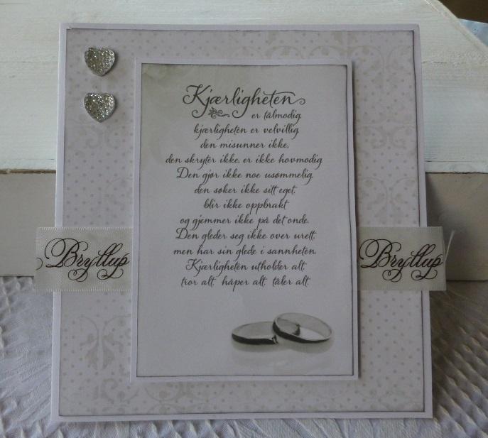 DT, a wedding card by Iren S. Mikalsen