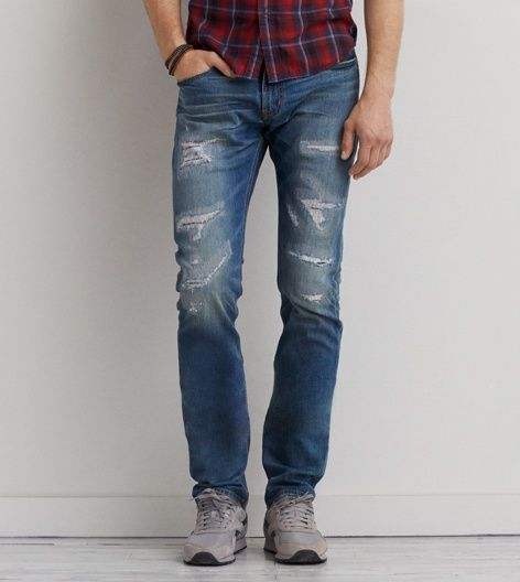 Light Destroy Wash Slim Core Flex Jean