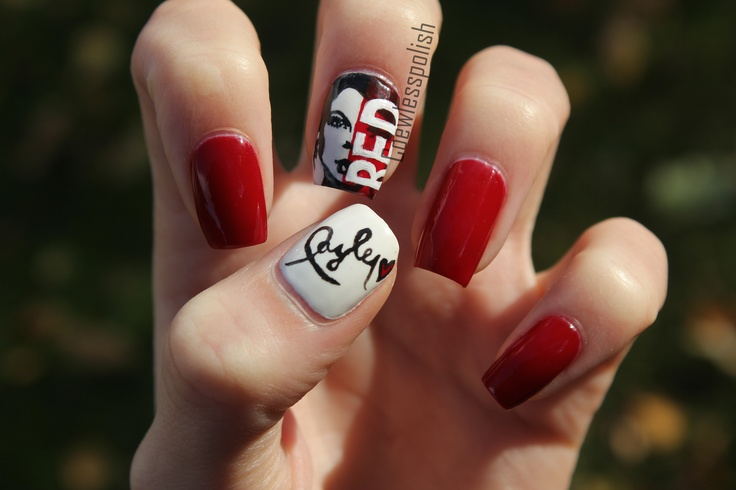 Red Taylor Swift inspired nails!!!