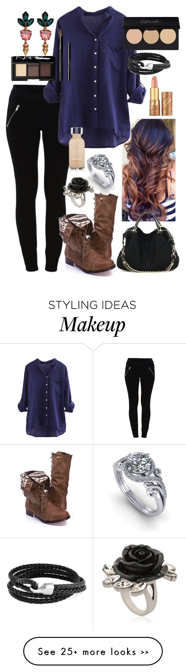 """""""Untitled #511"""" by aralynwinchester on Polyvore featuring VILA, Mawi, L'Oréal Paris, tarte, NARS Cosmetics and Bling Jewelry"""