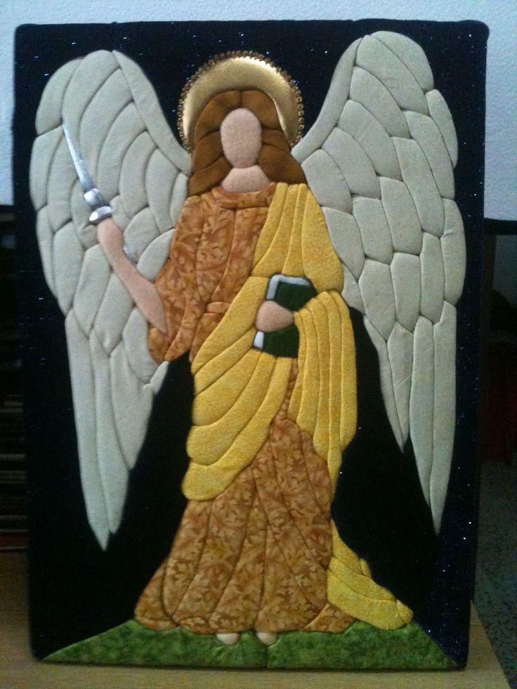 patchwork sin aguja inspirado desde un vitral arcangel jofiel