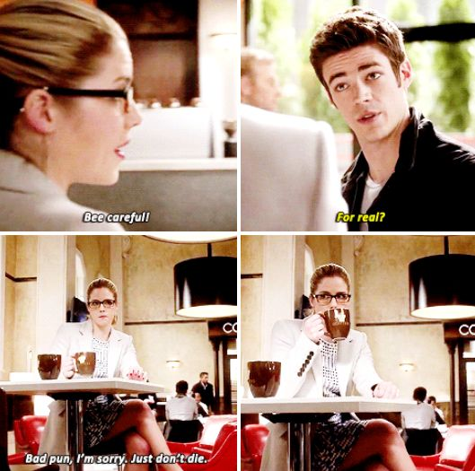 """""""Bee careful"""" - Felicity, being awesome as always :) #TheFlash"""