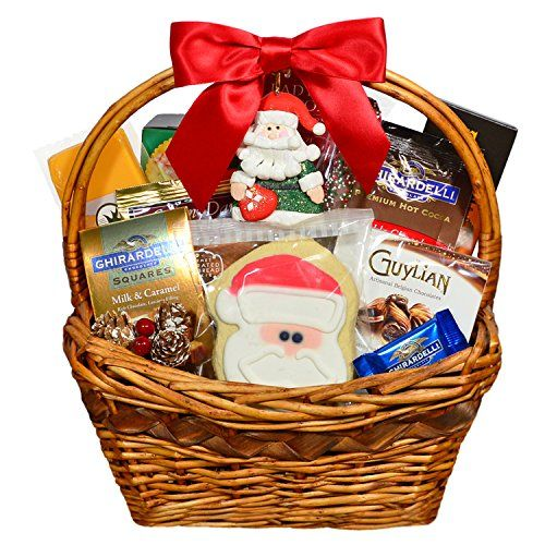 Blue Basil Gifts HO HO HO! Gourmet Christmas Gift Basket with Santa Christmas Ornament - http://www.specialdaysgift.com/blue-basil-gifts-ho-ho-ho-gourmet-christmas-gift-basket-with-santa-christmas-ornament/