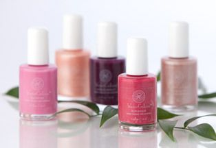 WaterColors Nail Enamel - Honeybee Gardens carries a line of natural nail polish in a wide variety of colors. These are actually water-based (so they remove effortlessly with your standard rubbing alcohol) and contain absolutely no traces of dangerous chemicals or carcinogens.