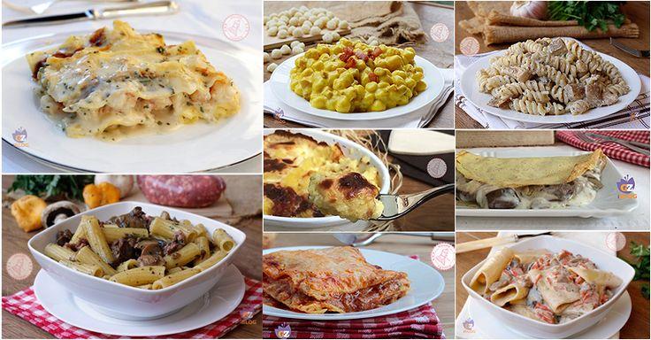 Primi piatti di Natale le migliori ricette facili, gustosissime. Lasagne, primi normali e al forno, gnocchi, crespelle, polenta e tanti altri