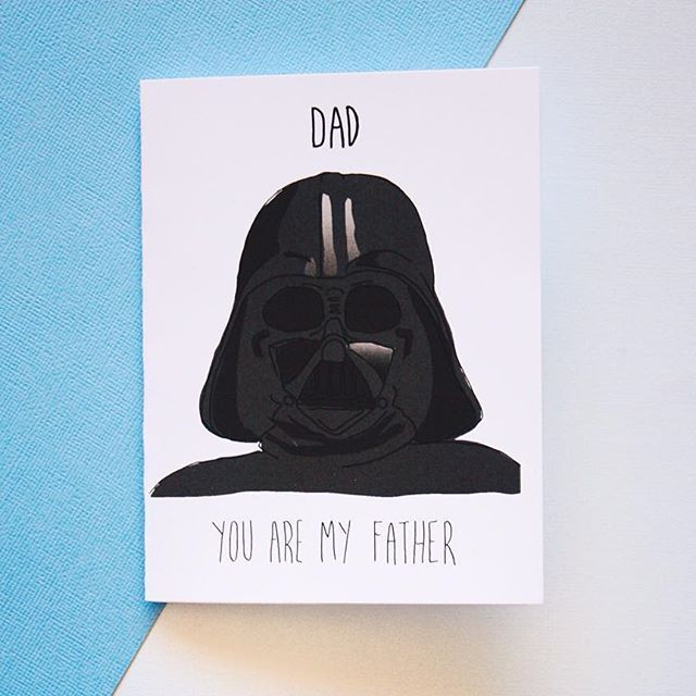 Star Wars Dad Card - Birthday Card - Fathers Day Card by BAECK + ANN