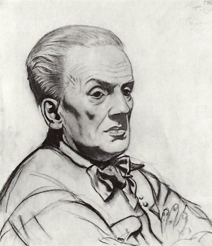 Portrait of Yuri Korvin-Krukovsky - Boris Kustodiev, 1926