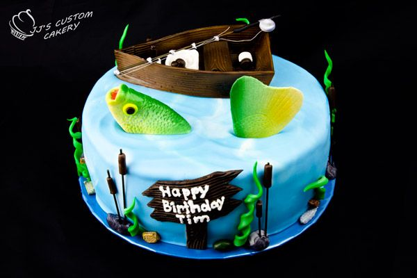 Fishing birthday cake, Dad would love this!