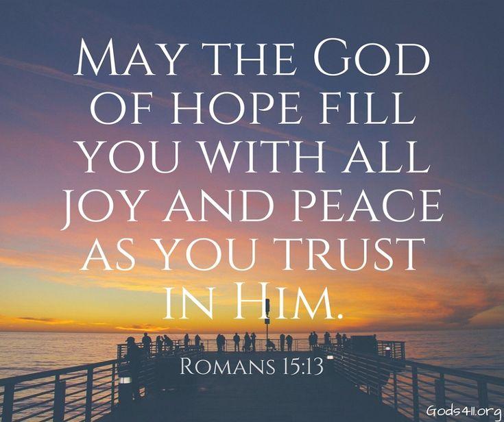 Romans 15:13   Bible Verses