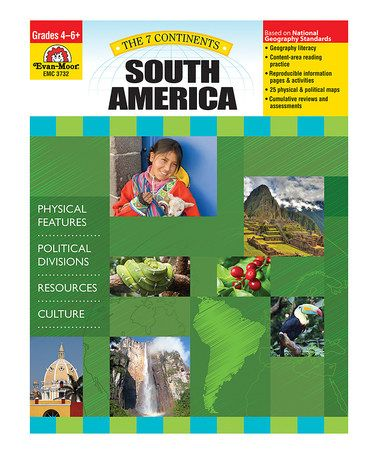 Little learners can get to know all about South America with this detailed paperback. The book is divided into five sections to help beginning readers develop a well-rounded understanding of the landmass and encourage geographic literacy. Covering topics such as the location, political divisions, physical features, resources and cultures of the continent, it's full of info that will have little ones eager to learn more.