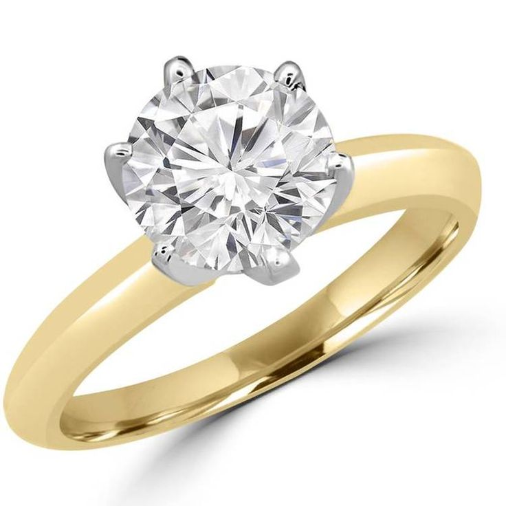 1 1/3 CT 6-Prong Solitaire Round