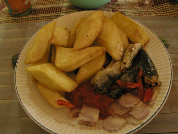 Fried Yam W Fish N HotPepper. What Else Do You Need