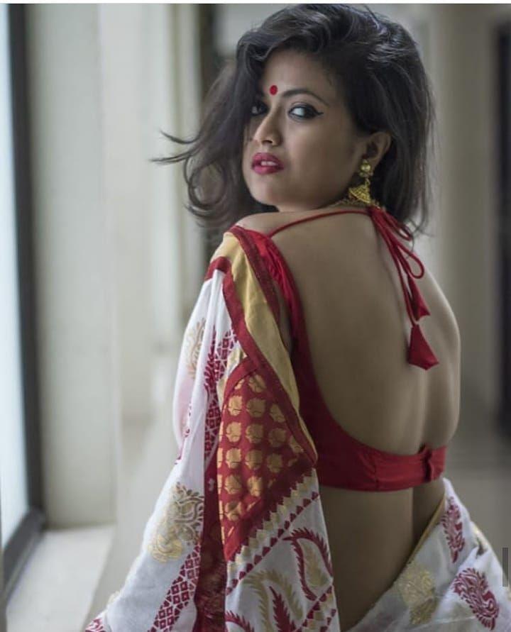 Charming indian girls in saree