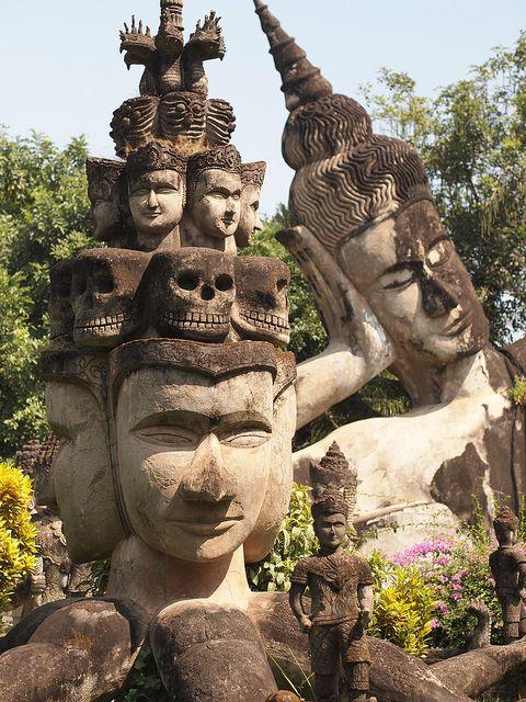 Xieng Khuan Buddha Park in Vientiane, Laos