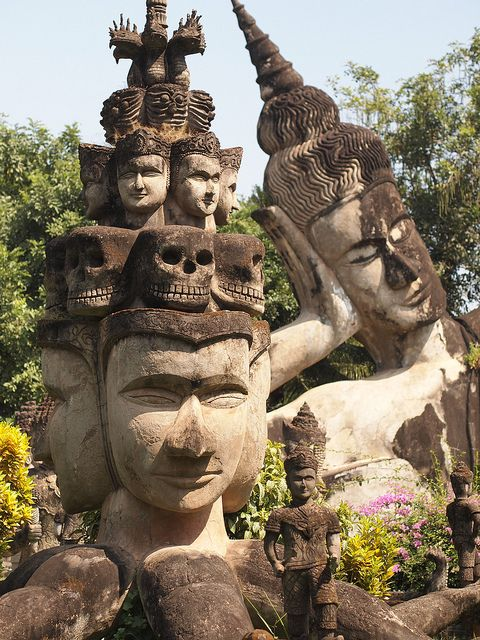 Xieng Khuan Buddha Park in Vientiane, Laos (by ChihPing).: Laos Bi, Buddha Parks, Bi Chihp, Beautiful Spaces, Khuan Buddha, Vientian Laos, Asia, Xieng Khuan, Adventure Places