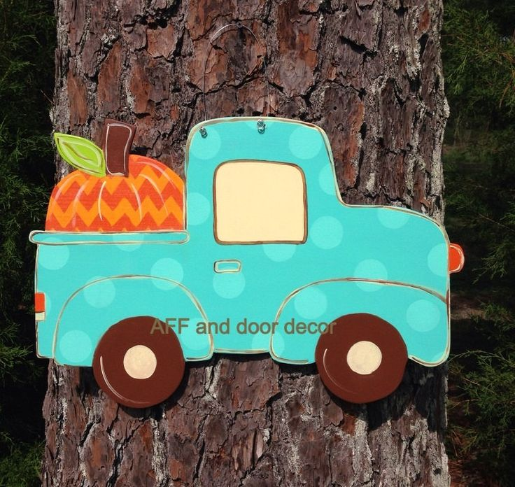 Fall door hangerfall Truck door decorReady by Furnitureflipalabama