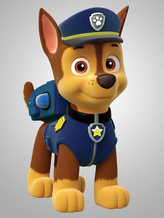 Paw patrol: Chase-HE IS THE CUTEST!!!! <3 I LOVE CHASE!!!