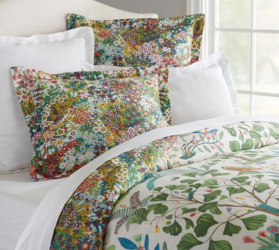 Evie Floral Reversible Organic Duvet Cover Amp Shams