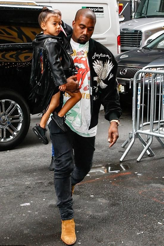 08185957e07 Kanye West wearing Saint Laurent Tan Western Wyatt Boots