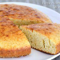 Torta ricotta e latte di mandorle ricetta senza burro e senza olio