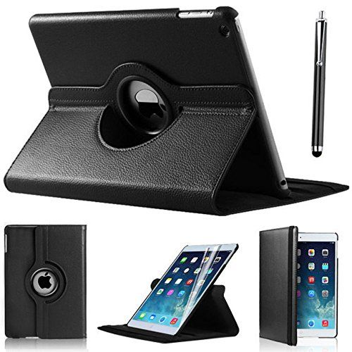 360 DEGREE ROTATING BLACK HIGH QUALITY LEATHER CASE WITH FREE SCREEN PROTECTOR FOR Apple iPad Mini Black case, iPad Mini2 case, iPad mini3 case BY DN-TECHNOLOGY® D & N http://www.amazon.co.uk/dp/B00MR2QYYU/ref=cm_sw_r_pi_dp_4xwZwb1TW6RR4