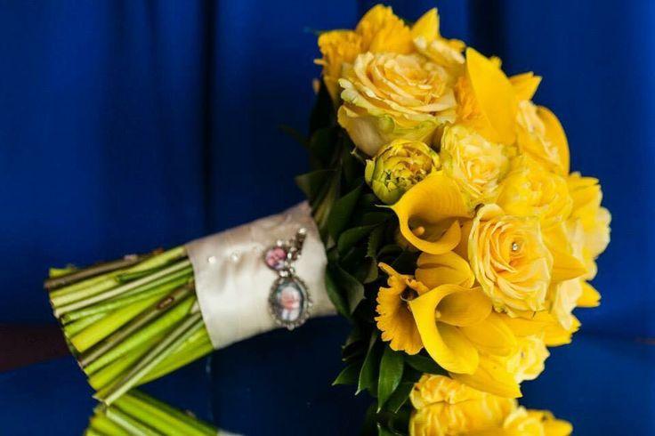 Yellow bridal handtied
