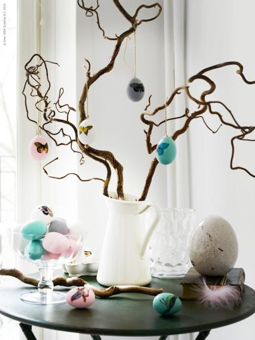 An Easy And Fun Way To Decorate Easter Eggs Is Use Stickers With Small Birds Beautiful Butterflies