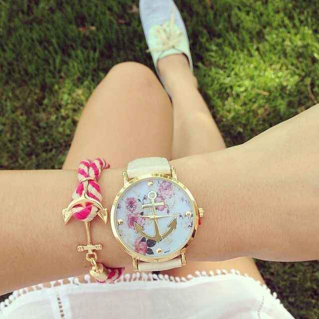Aliexpress.com: relógio floral âncora