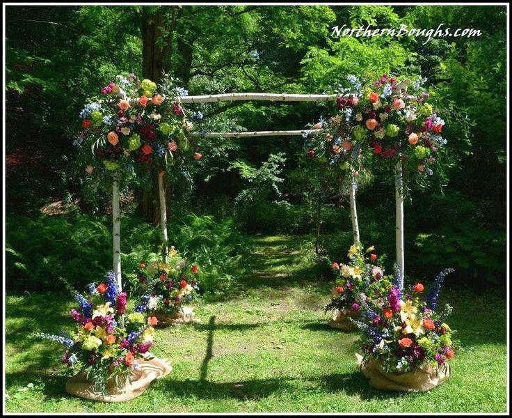 1000+ Ideas About Rustic Wedding Arbors On Pinterest