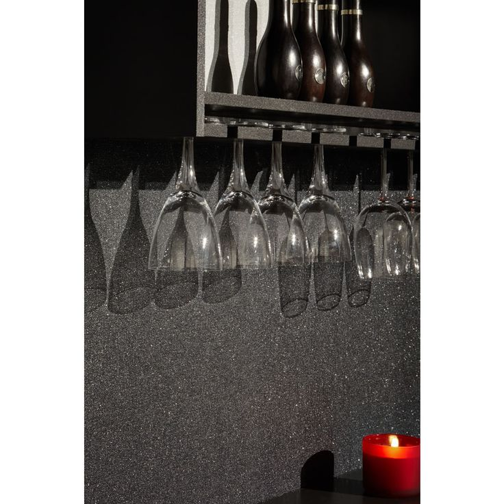 Arthouse Glitterati Wallpaper Plain Black
