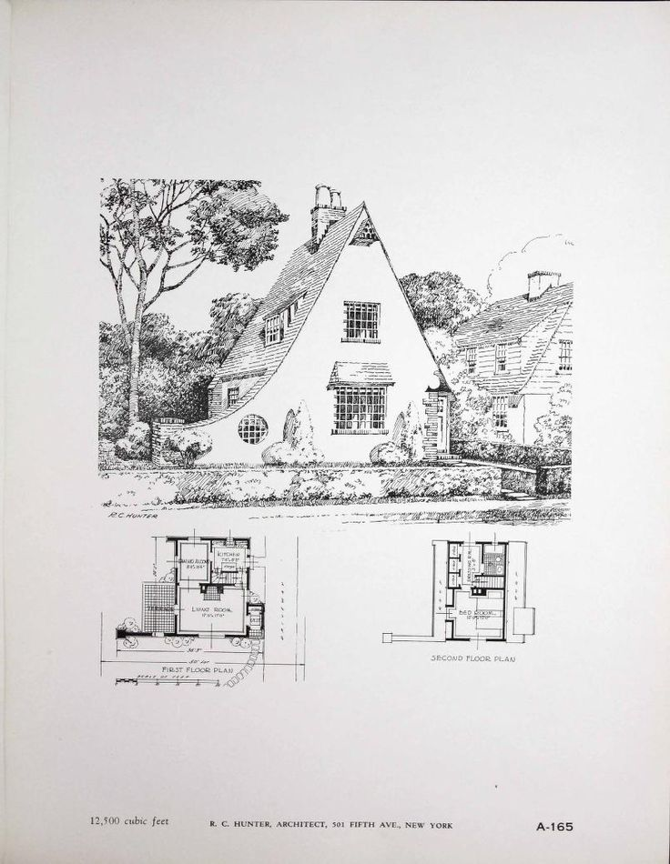 portfolio of fifty new small homes designed b - Vintage Storybook House Plans
