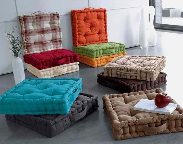 diy floor cushions can probably find some at homegoods. Black Bedroom Furniture Sets. Home Design Ideas