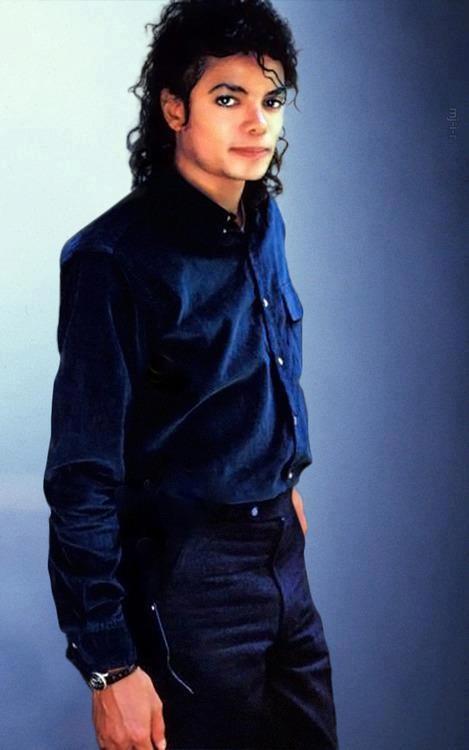 BAD Era: Dark blue long button up sleeve shirt and black slacks....damn sexy!!