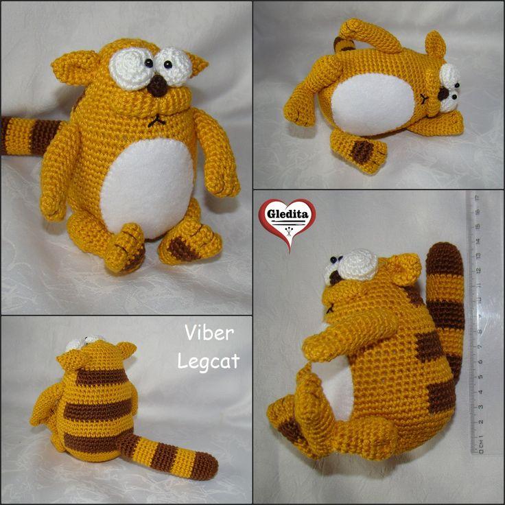 Crocheted Viber Legcat #gleditacrochet #amigurumicat #amigurumi