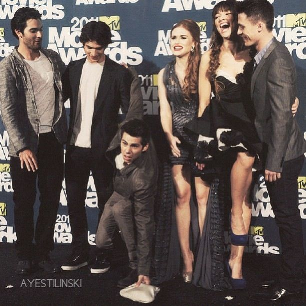 Teen Wolf Cast Tyler Hoechlin, Tyler Posey, Dylan O'Brien, Holland Roden, Crystal Reed and Colton Haynes