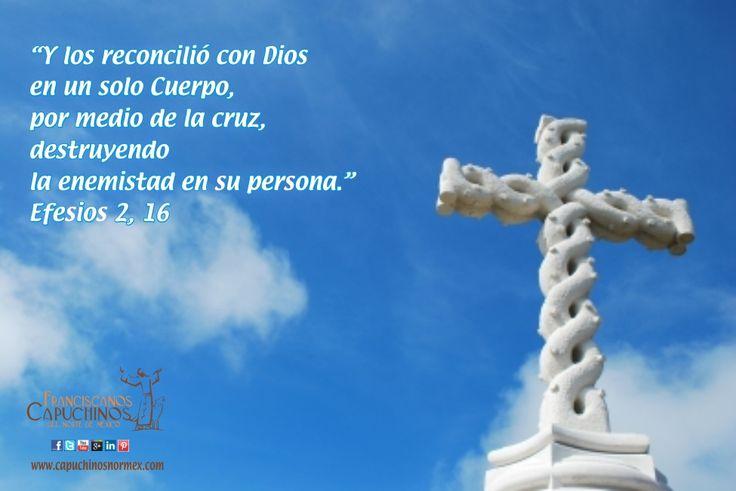 """""""Y los reconcilió con Dios en un solo Cuerpo, por medio de la cruz, destruyendo la enemistad en su persona"""" (Ef 2,16)"""