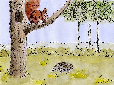 Egel en Eekhoorn eten taart