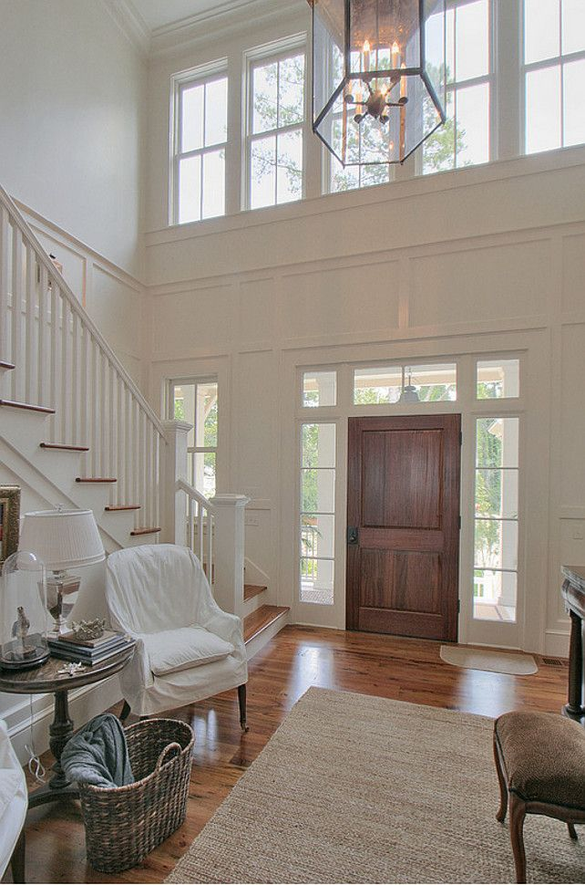 Sherwin Williams: SW 7517 China Doll - Allison Ramsey Architects. ◆What a wonderful entryway!◆