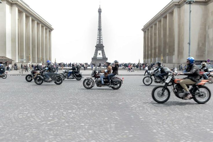 The Ralph Lauren RRL Riders event in Paris featured 200 motorcycles riding from Paris to The Dampierre Castle, La Vallée de Chevreuse Versailles and back, ending in front of the Ralph Lauren flagship store on boulevard St Germain.