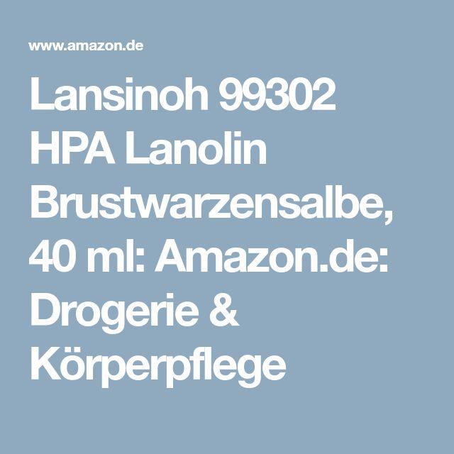 Lansinoh 99302 HPA Lanolin Brustwarzensalbe, 40 ml: Amazon.de: Drogerie & Körperpflege