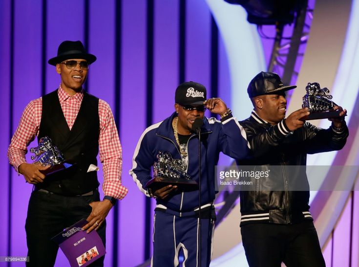 Ronnie DeVoe, Ricky Bell, and Michael Bivins of Bell Biv DeVoe accept the Soul Train Certified Award onstage at the 2017 Soul Train Awards, presented by BET, at the Orleans Arena on November 5, 2017 in Las Vegas, Nevada.