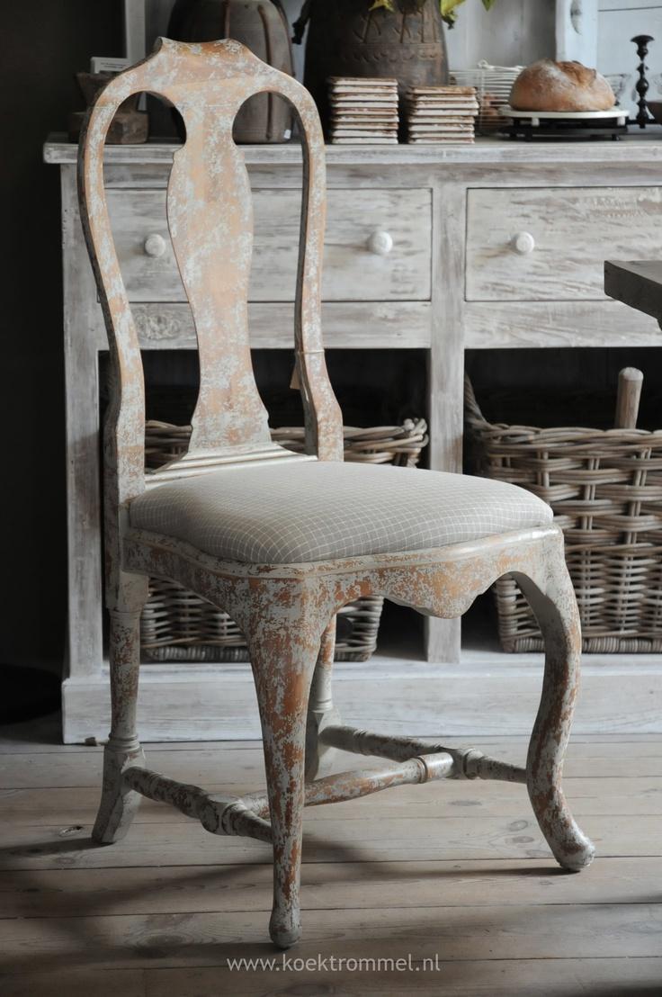 Stoel in gustaviaanse stijl zitmeubelen pinterest - Linnen stoel ...