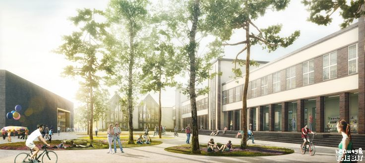 Competition For New High School in Leipzig. Germany. Rhode Kellermann Wawrowsky. 2014