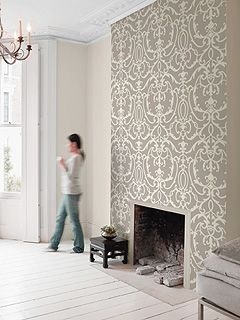 Seabrook wallpaper- but could create with Royal Design Studio stencil.