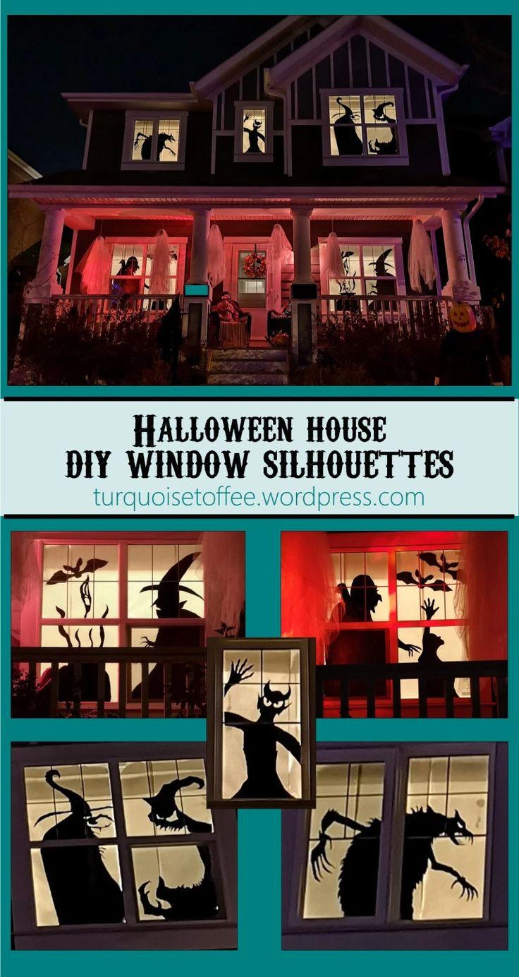 Halloween House DIY Window Silhouettes