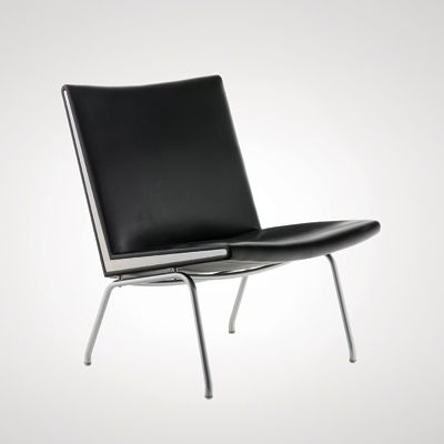 I really like simple modern furniture...especially in black leather.