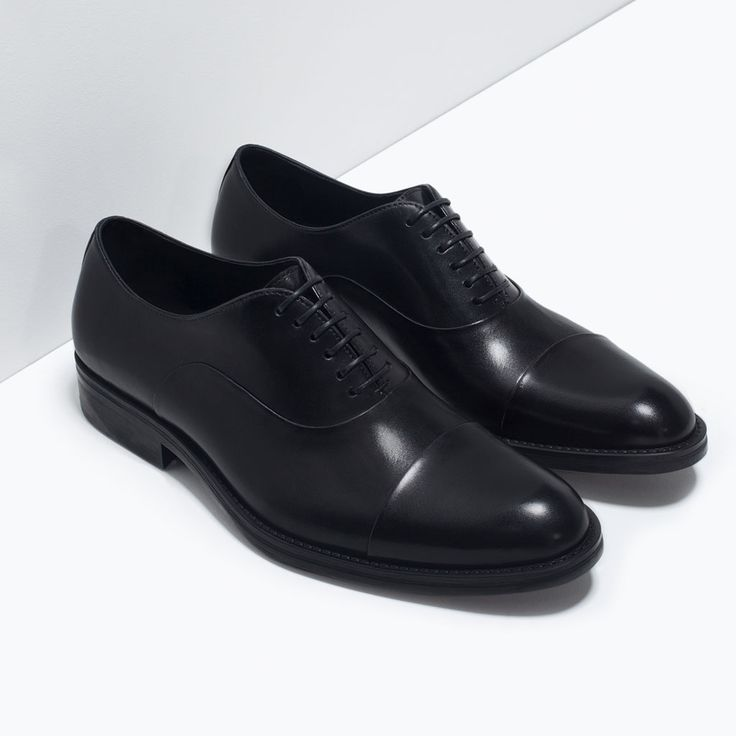 Image 5 of CLASSIC LEATHER LACE-UP SHOES from Zara