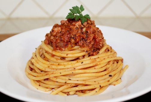 Jessica's Super Quick Beef Bolognese (Italy)